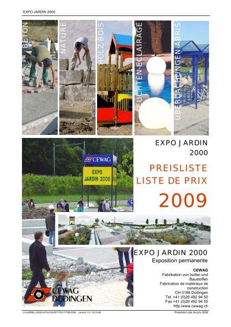 Preisliste / Liste de prix 2009 pour utilisation CD ...
