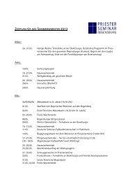 Zeitplan Sommersemester 2013 - Priesterseminar Regensburg, St ...