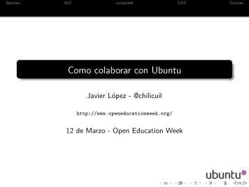 Como colaborar con Ubuntu