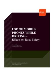 USE OF MOBILE PHONES WHILE DRIVING - Effects on Road Safety