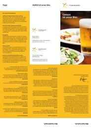 Genuss ist unser Bier. - Private Brauereien