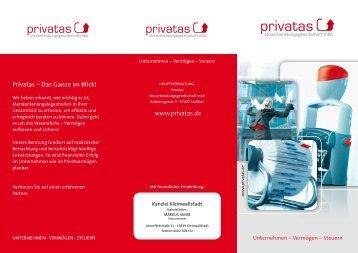 Kanzleileistungen [Flyer] - Privatas Steuerberatungsgesellschaft mbH