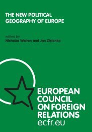 THE NEW POLITICAL GEOGRAPHY OF EUROPE