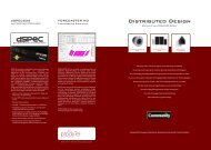 Distributed Design Serie - prodyTel