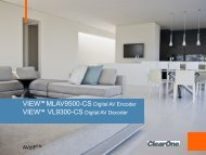 VIEWTM MLAV9500-CS Digital AV Encoder VIEWTM ... - prodyTel