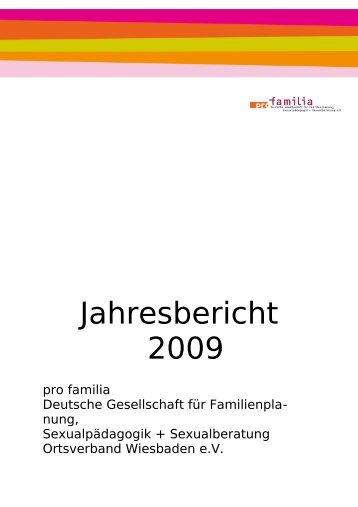 Download Jahresbericht 2009 - Pro Familia