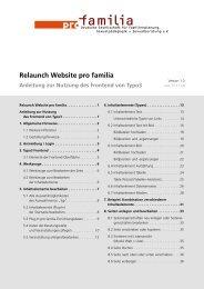 Relaunch Website pro familia