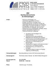 Lehrgang 202 Klimaanlagen 26.07.10 Wengerohr - Profi Parts ...