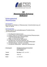 Komplett Einladung QH Wasserpumpen Juni Koblenz - Profi Parts ...