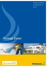 Sonnige Zeiten - PROGAS GmbH & Co KG