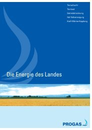 Die Energie des Landes - PROGAS GmbH & Co KG