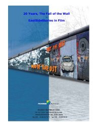 20 Years, The Fall of the Wall – EastSideStories in Film