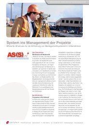 System ins Management der Projekte - Projectplace