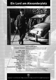 Ein Lord am Alexanderplatz - PROGRESS Film-Verleih