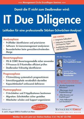 IT Due Diligence - Die Projektfabrik GmbH