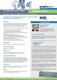 Classic Kurs - projektpartner management GmbH