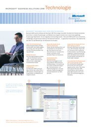 MICROSOFT® BUSINESS SOLUTIONS CRM Technologie
