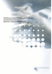 Einführung Active Directory und Exchange ... - PROKODA GmbH