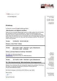 Einladung/Anmeldung - ProLab
