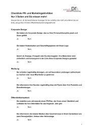 PR-Checkliste - ProLab
