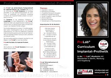 ab Curriculum Implantat-Prothetik - ProLab