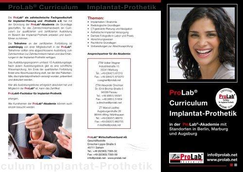 ab Curriculum Implantat-Prothetik - ProLab