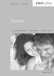Pricelist - Prolana