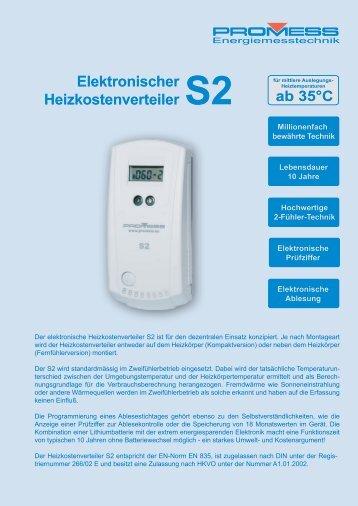 Elektronischer Heizkostenverteiler S2 - PROMESS GmbH