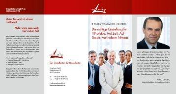Gutes Personal ist schwer zu finden?  - Prometheus GmbH