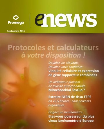 Protocoles et calculateurs - Promega