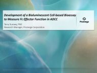 Development of a Bioluminescent Cell-Based Assay to ... - Promega