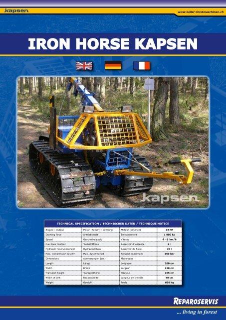 IRON HORSE KAPSEN - Keller Forstmaschinen AG
