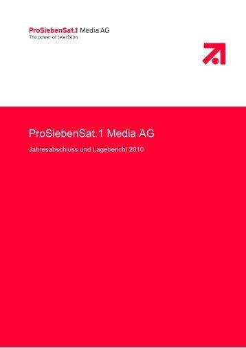 Einzelabschluss der ProSiebenSat.1 Media AG 2010 (PDF