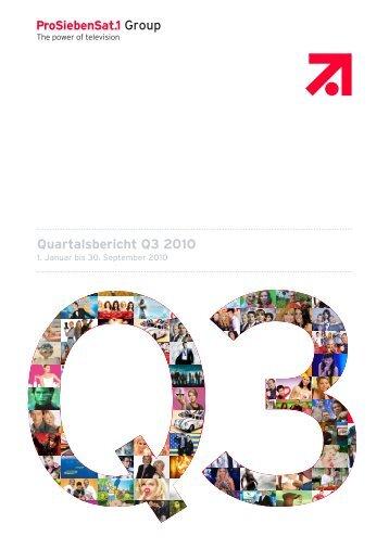 Quartalsbericht Q3 2010 - ProSiebenSat.1 Media AG
