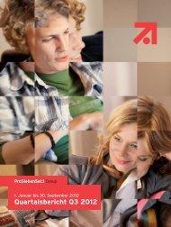 Quartalsbericht Q3 2012 - ProSiebenSat.1 Media AG