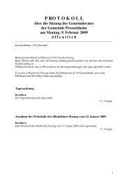 P RO T O K O L L - Prosselsheim
