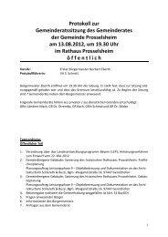 Protokoll 13.08.öx - Prosselsheim