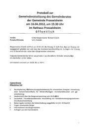 Protokoll zur - Prosselsheim