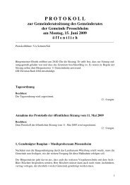 P R O T O K O L L - Prosselsheim
