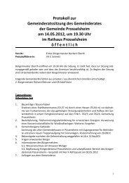 Protokoll 14.05.öx - Prosselsheim