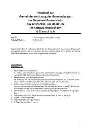 Protokoll ö 12.09x - Prosselsheim