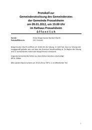 Protokoll 09.01.öx - Prosselsheim