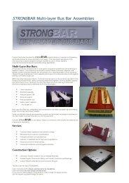 STRONGBAR Multi-layer Bus Bar Assemblies
