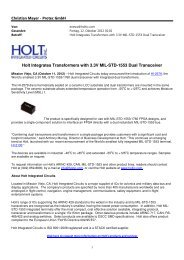 Holt Integrates Transformers with 3.3V MIL-STD ... - Protec GmbH