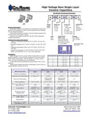 High Voltage Bare Single Layer Ceramic Capacitors