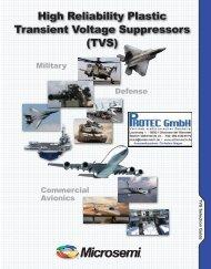 High Reliability Plastic Transient Voltage Suppressors (TVS)
