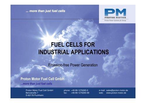 Company presentation, English, pdf - Proton Motor Fuel Cell GmbH