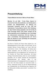 Presseinfo Neuer CEO von Proton Motor - Proton Motor Fuel Cell ...