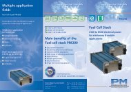 Fuel cell stack PM 200 - Proton Motor Fuel Cell GmbH