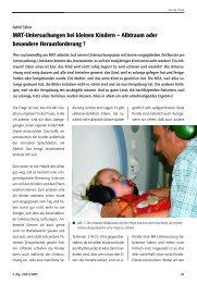 MRT-Untersuchungen bei kleinen Kindern – Albtraum oder ...
